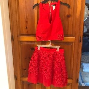 Dresses & Skirts - 2 pc Red Dress